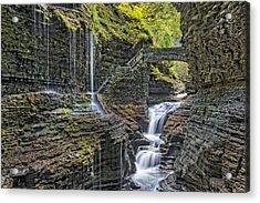 Rainbow Falls At Watkins Glen State Park Acrylic Print