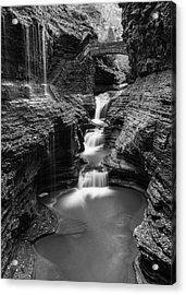 Rainbow Falls Gorge - Watkins Glen Acrylic Print