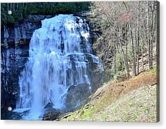 Rainbow Falls In Gorges State Park Nc 02 Acrylic Print by Bruce Gourley