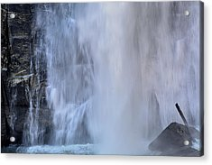 Rainbow Falls In Gorges State Park Nc Acrylic Print by Bruce Gourley
