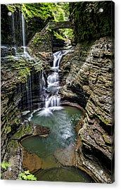 Rainbow Falls - Watkins Glen Acrylic Print