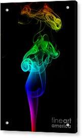 Rainbow Flame Acrylic Print by Alexander Butler
