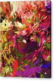 Rainbow Flower Rhapsody Purple Green Acrylic Print