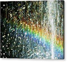Rainbow Fountain Acrylic Print by Francesa Miller