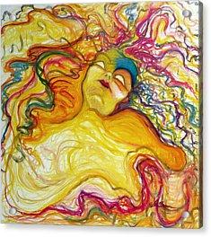 Rainbow Goddess Acrylic Print by Erika Brown