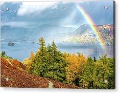 Rainbow Gold Acrylic Print
