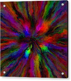 Rainbow Grunge Abstract Acrylic Print