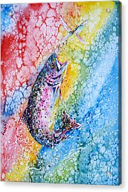 Rainbow Hunter Acrylic Print by Zaira Dzhaubaeva