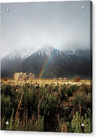 Rainbow In Eastern Sierra Nevadas Acrylic Print