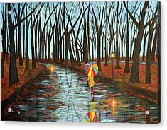 Rainbow In The Park 2 Acrylic Print by Ken Figurski