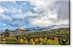 Acrylic Print featuring the photograph Rainbow In The San Juan Mountains by Jon Glaser