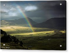 Acrylic Print featuring the photograph Rainbow In The Valley by Andrew Matwijec