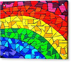 Rainbow ... Acrylic Print by Juergen Weiss