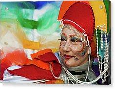 Rainbow Lady Acrylic Print