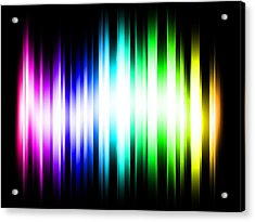 Rainbow Light Rays Acrylic Print by Michael Tompsett
