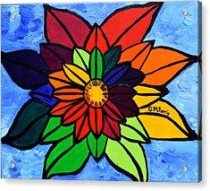 Rainbow Lotus Flower Acrylic Print