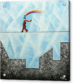 Rainbow Man Acrylic Print