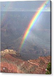 Rainbow Meets Mather Point Acrylic Print