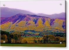 Rainbow Mountain Acrylic Print by DigiArt Diaries by Vicky B Fuller