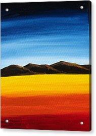 Rainbow Mountains Acrylic Print by Liz Vernand