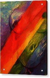 Rainbow Nude Acrylic Print by Shelley Bain