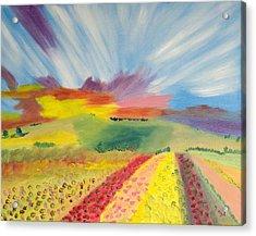 Rainbow  Flowers Acrylic Print