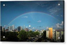 Rainbow Over Austin Acrylic Print