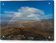 Rainbow Over Borrego Springs Acrylic Print