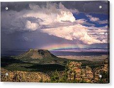 Rainbow Over Cedar Mountain Acrylic Print