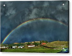 Rainbow Over Cripple Creek Acrylic Print