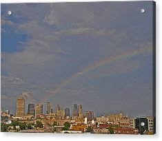 Rainbow Over Nashville Acrylic Print by Randy Muir