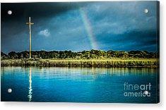 Rainbow Over Nombre De Dios Acrylic Print by Jim DeLillo