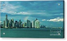 Rainbow Over Panama City Acrylic Print