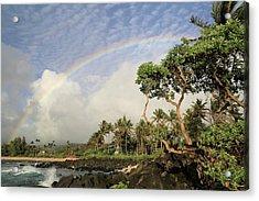 Rainbow Over The Beach Acrylic Print