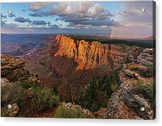 Rainbow Over The Painted Desert Acrylic Print by Adam Schallau