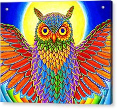 Rainbow Owl Acrylic Print