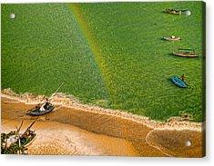 Acrylic Print featuring the photograph Rainbow Rain by Kim Wilson