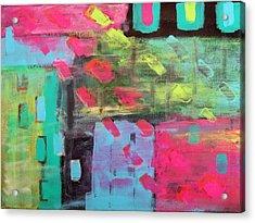 Rainbow Rain Acrylic Print by Tamara Savchenko