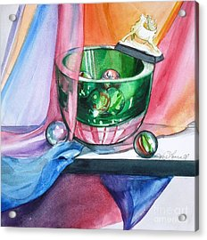Rainbow Raindeer Acrylic Print