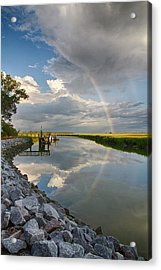 Rainbow Reflection Acrylic Print by Patricia Schaefer