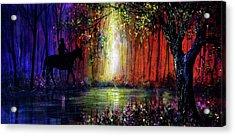 Rainbow Ride Acrylic Print by Ann Marie Bone