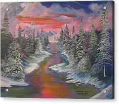 North Dakota And The Rainbow River Acrylic Print