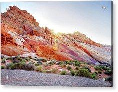 Rainbow Rocks At Valley Of Fire, Nevada, Usa Acrylic Print