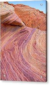 Rainbow Rocks Near Fire Canyon Acrylic Print