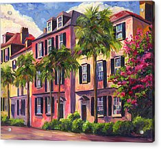 Rainbow Row Charleston Sc Acrylic Print