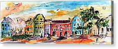 Rainbow Row Charleston South Carolina Acrylic Print