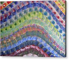 Rainbow Acrylic Print by Russell Simmons