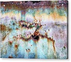 Rainbow Rust Acrylic Print by Karen Stahlros