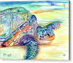Rainbow Sea Turtle 2 Acrylic Print