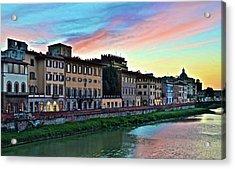 Rainbow Sky Over Florence Italy Acrylic Print